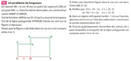 Ex 71 p 64 : fonctions affines (Nathan Transmath Seconde 2011).ggb