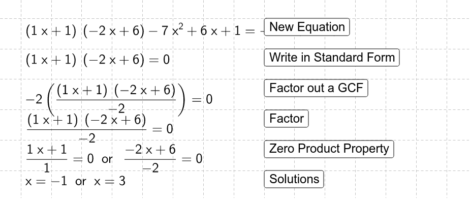 Practice solving these equations.