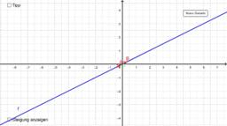 ÜBUNG: Steigung mit Steigungsdreieck bei y=mx ablesen