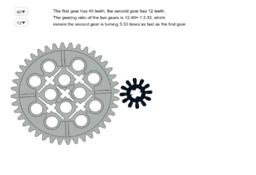 Simple LEGO gear train