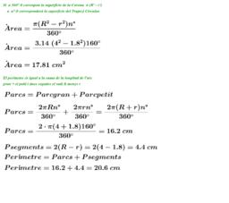 Figures circulars - Àrea i Perímetre