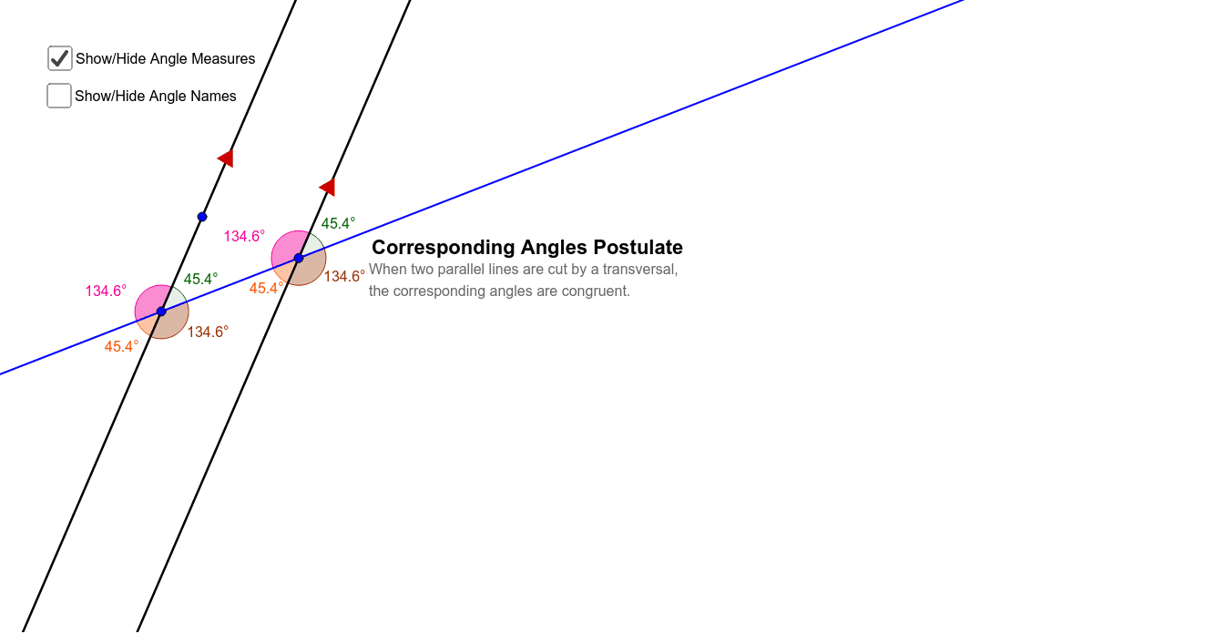 EXPLORING CORRESPONDING ANGLES WORKSHEET
