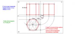 Proiezioni ortogonali - Prisma a base esagonale