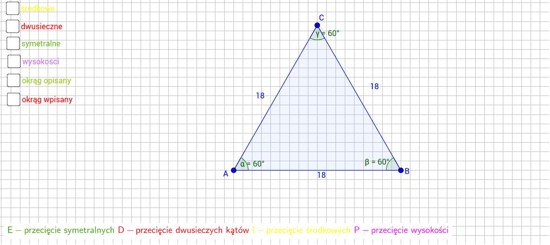 Własnosci trójkątów- trójkąt równoboczny
