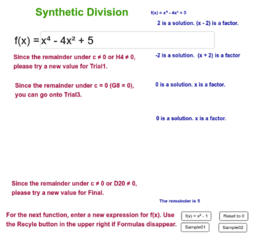 Synthetic Division (Extended Version)