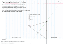 Parabola constructed by paper folding