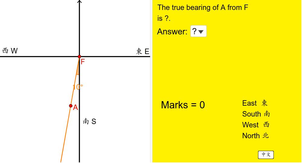 根據左圖,在右方選出答案,然後按「對答案」。 Press Enter to start activity