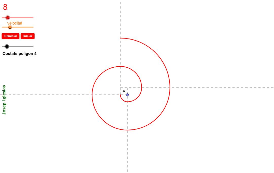 Escull el nombre de costats del polígon regular inicial per fer l'espiral.