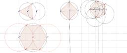 Trazos de polígonos regulares inscritos en una circunferencia.