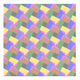 Pythagorean Theorem by Tessellation # 79 Tiling
