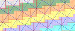 Pythagorean Theorem by Tesselation # 30 Tiling