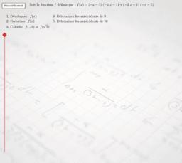 Entraînement fonctions et calcul algébrique
