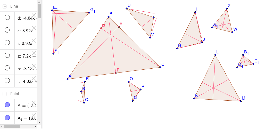 3.1.5 - Tool for constructing a triangle and its altitudes Press Enter to start activity
