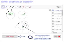 Winkel geometrisch addieren