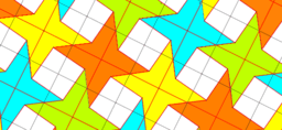 Pythagorean Theorem by Tessellation # 27 Tiling