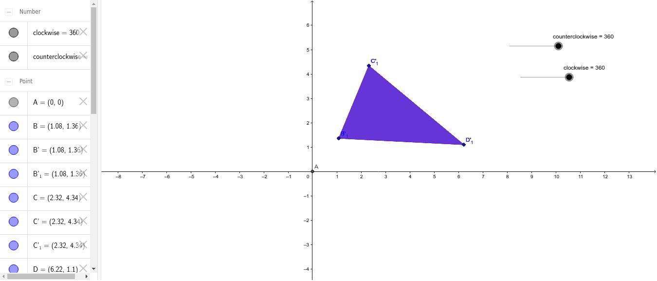 Rotation using 2 sliders