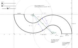 Разметка автодрома (пример применения GeoGebra)