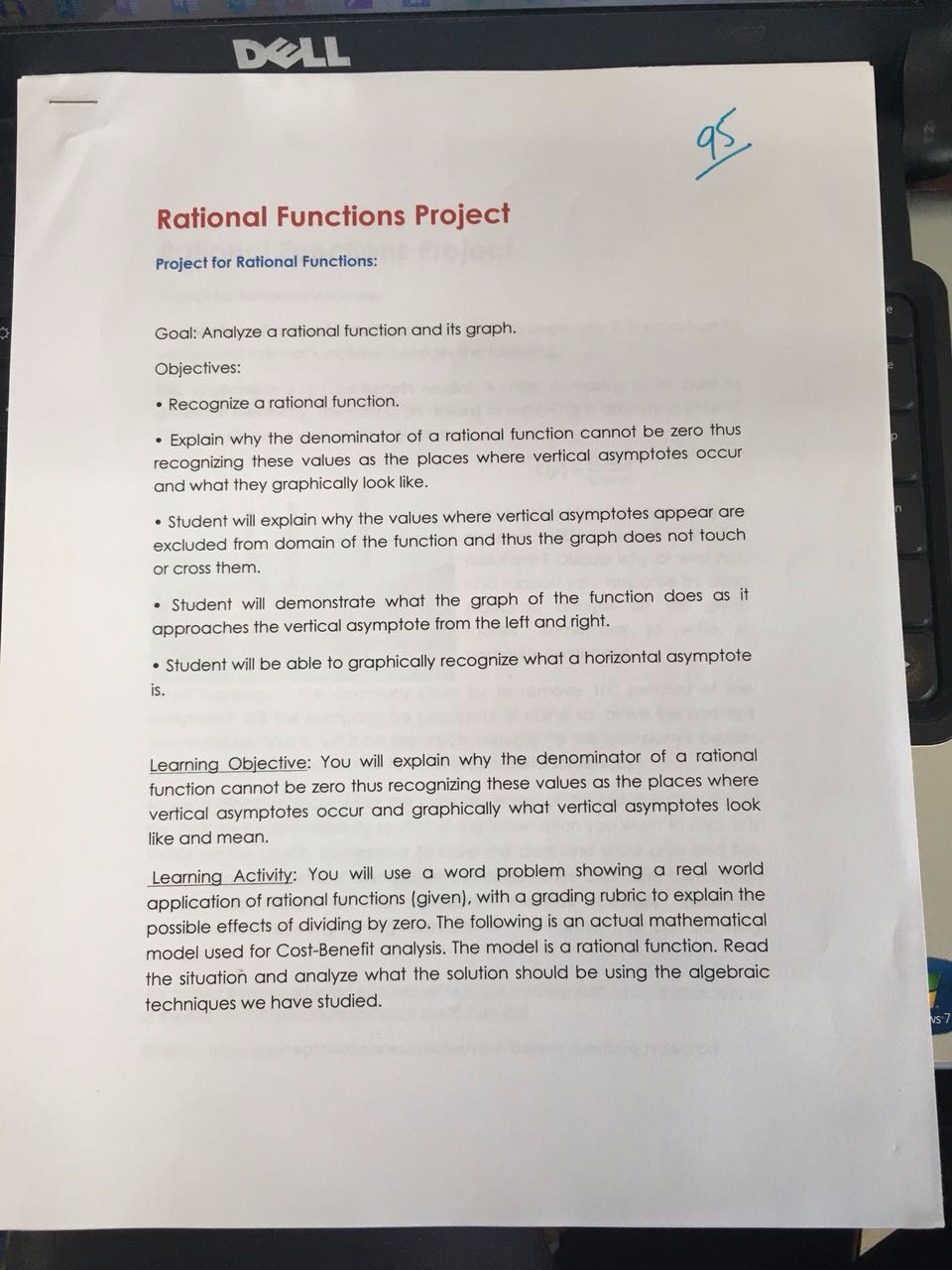 Rational Functions Project