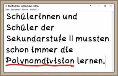 Polynomdivision