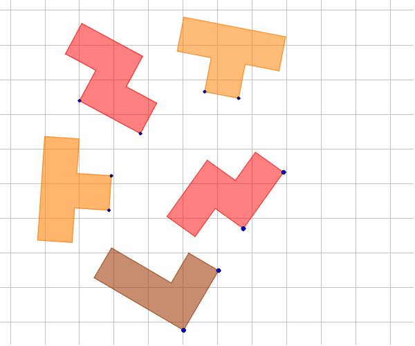 Piezas Tetris Arma un rectángulo con las piezas del  tetris. Arrastra las piezas de un punto y giralas del otro