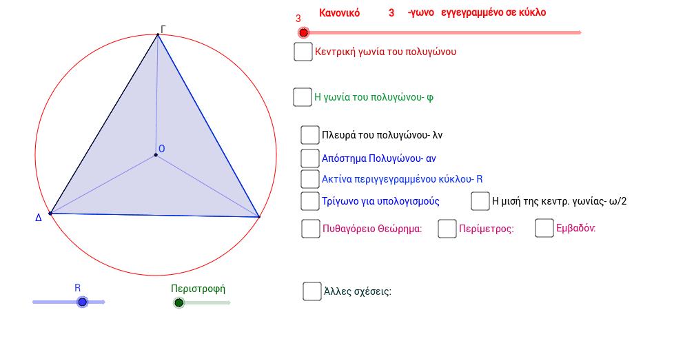 Στοιχεία Κανονικών Πολυγώνων
