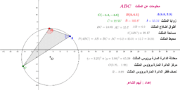 معلومات عن المثلث ABC