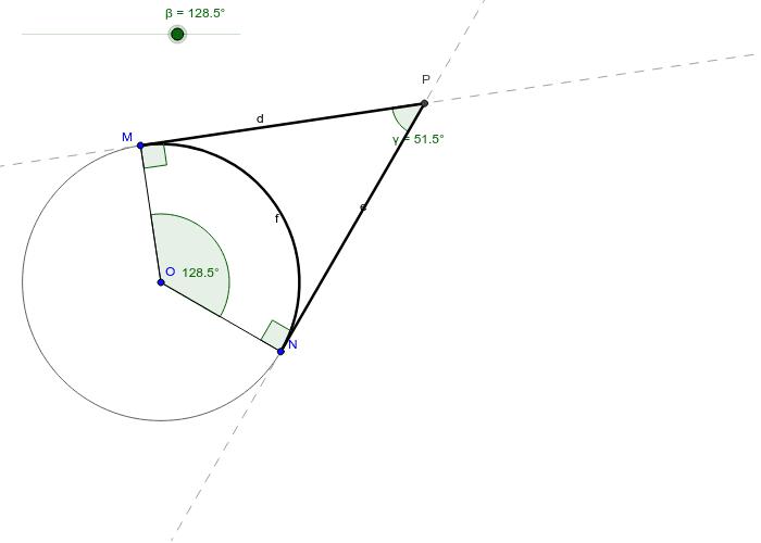Tangent Tangent Angle Theorem  Press Enter to start activity
