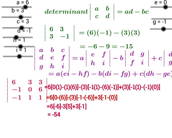 Find determinant