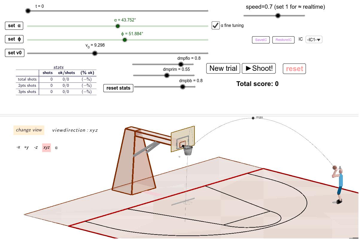 Pallacanestro 3D - v.3.4.4 Premi Invio per avviare l'attività