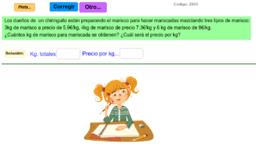 Problemas de Mezclas y números decimales