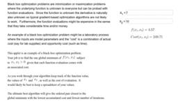 Black Box Optimization