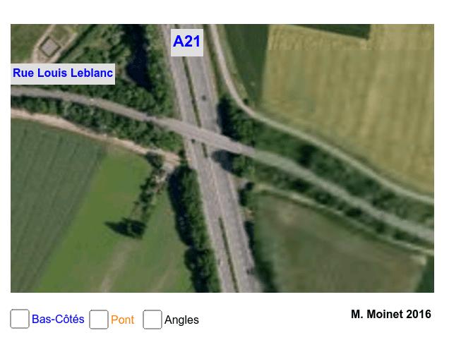 Angles Alternes-Internes A21 et rue Louis Leblanc