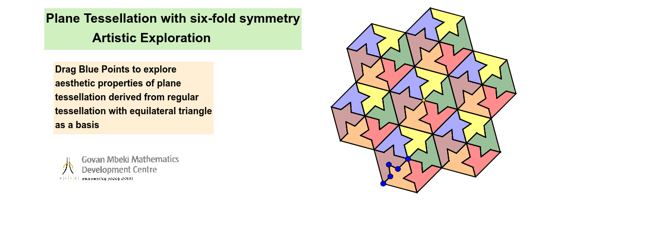 Plane Tessellations based on Regular Plane Tessellation with  Equilateral Triangle Press Enter to start activity