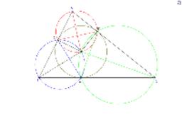 Projections du centre du cercle inscrit