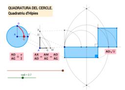 Quadratura del cercle. Quadratriu d'Hípies - 2
