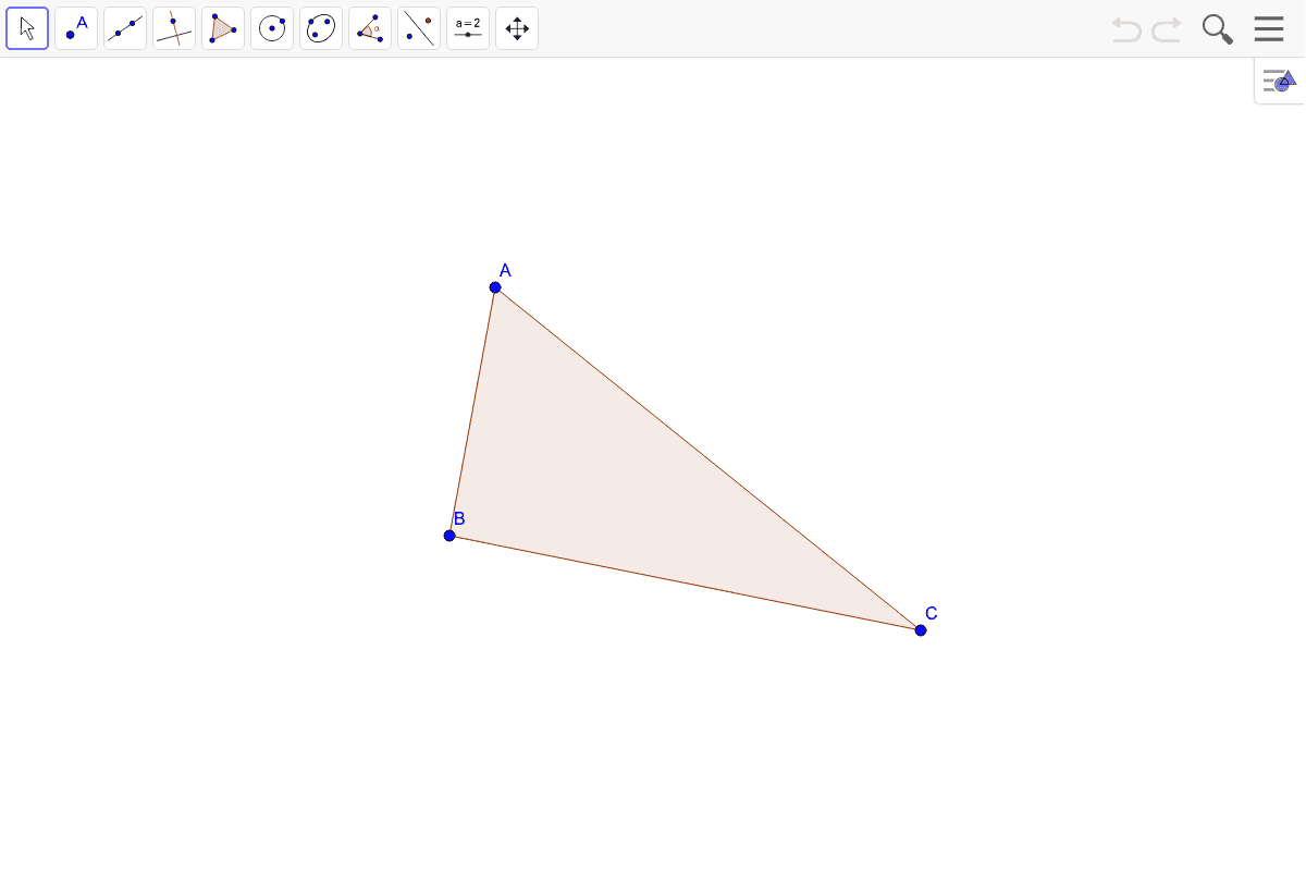 3) Find the centroid of the triangle.