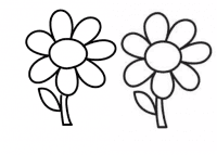 Blume mit Bezier