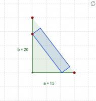 Rechteck im rechtwinkligen Dreieck