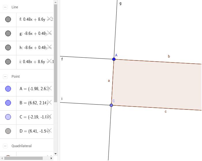 Trace o maior retângulo possível de acordo com os dados do problema