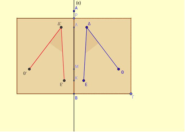 Συμμετρία προς άξονα γωνίας