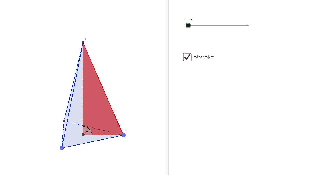 Wyciągaj ostrosłup i poruszaj wyznaczonymi punktami, aby zmienić kształt ostrosłupa