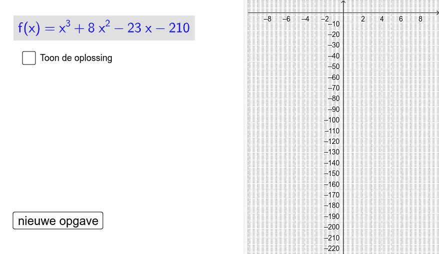 Waar stijgt of daalt de grafiek en welke zijn de minima of maxima Klik op Enter om de activiteit te starten