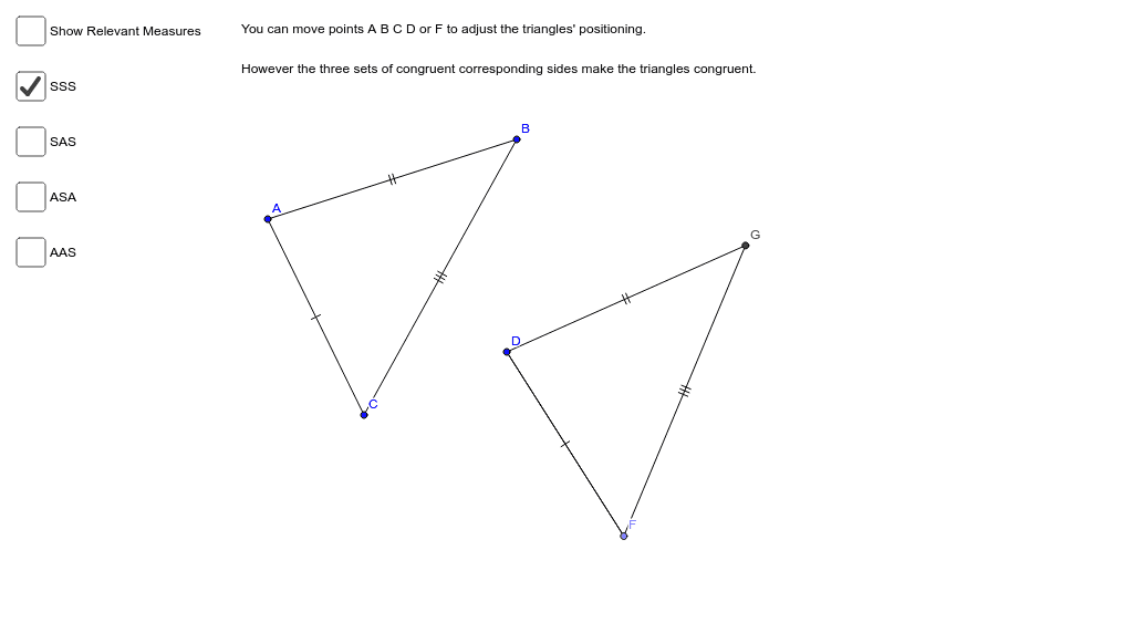 Congruent Triangles Press Enter to start activity