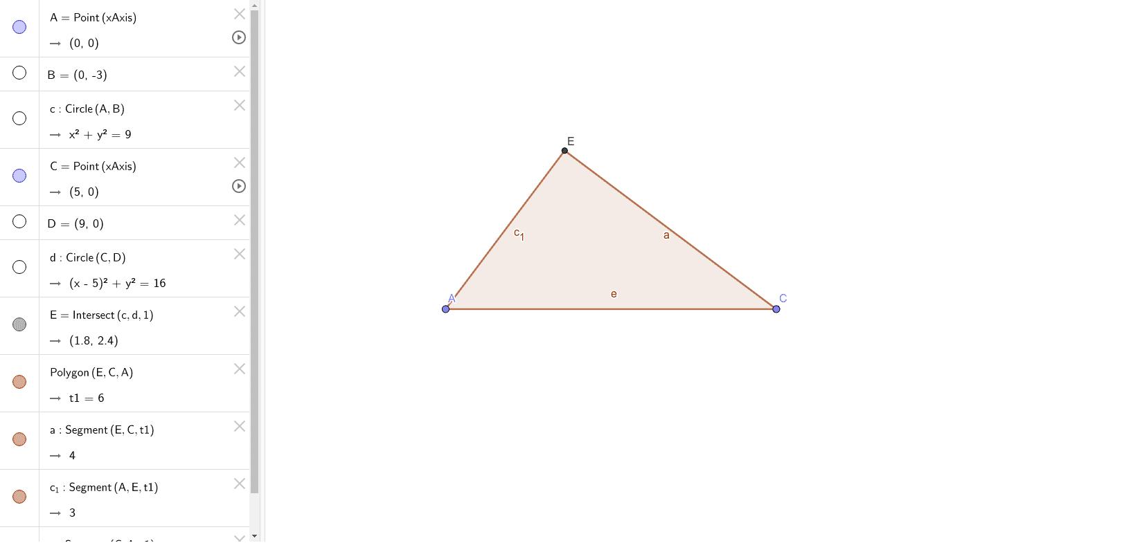 Construye las mediatrices de este triángulo rectángulo. Comprueba que el circuncentro coincide con el punto medio de la hipotenusa. Press Enter to start activity