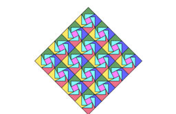 Pythagorean Theeorem by Tessellation # 84 Tiling