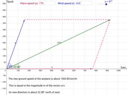 Application of vectors in navigation