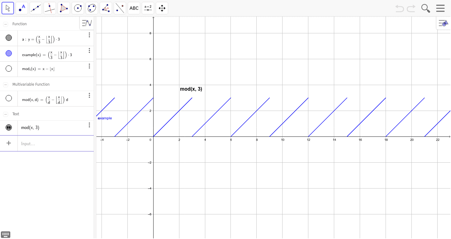 Modulo operation – GeoGebra