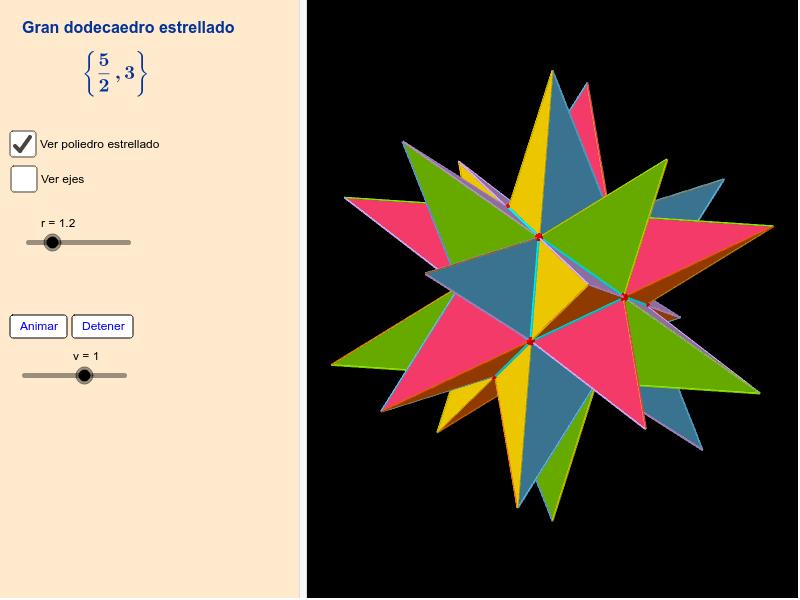 Gran dodecaedro estrellado Presiona Intro para comenzar la actividad