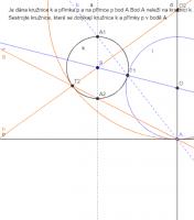 Kružnice přímka a bod napřímce
