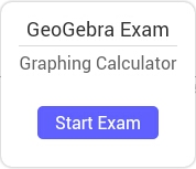 Selecteer [button_small]Exaen starten[/button_small] om een examen te starten met de GeoGebra Grafische rekenmachine Tablet App.
